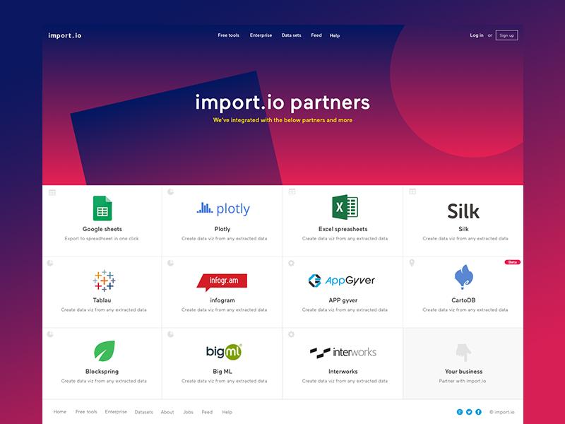 Partners Page Web App Design Web Design Partners