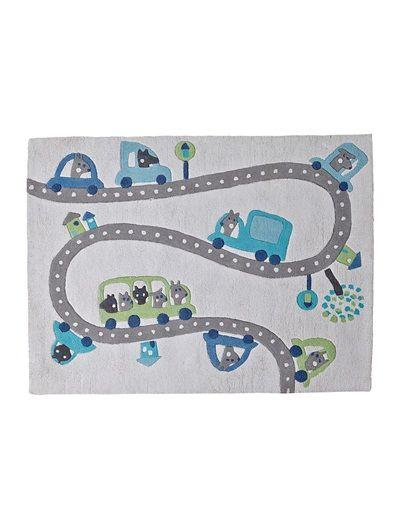 Kinderteppich vertbaudet  Kinderteppich mit niedlichen Automotiven aus Baumwolle. #Frühjahr ...