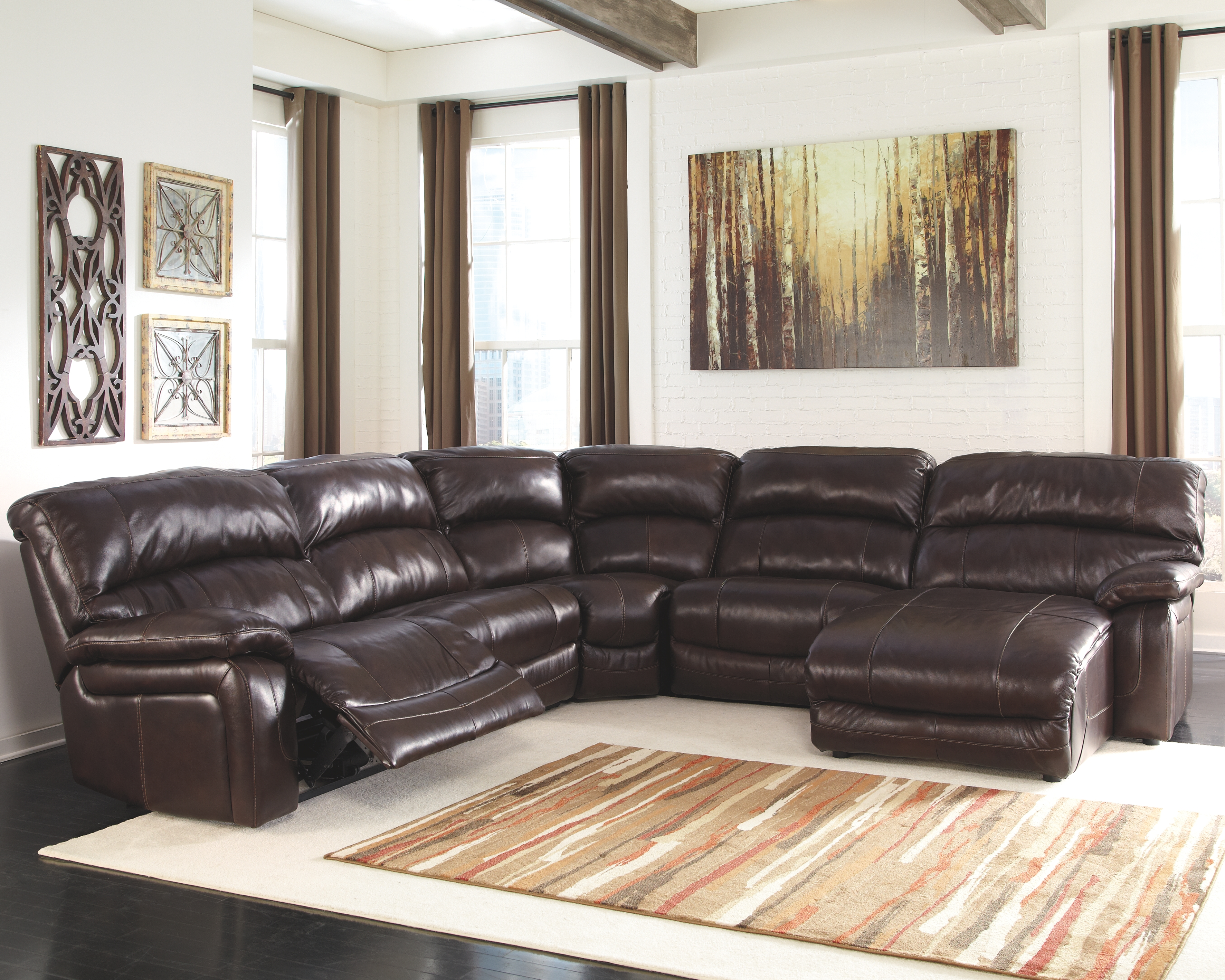 Outstanding Damacio 5 Piece Reclining Sectional With Chaise And Power Pabps2019 Chair Design Images Pabps2019Com