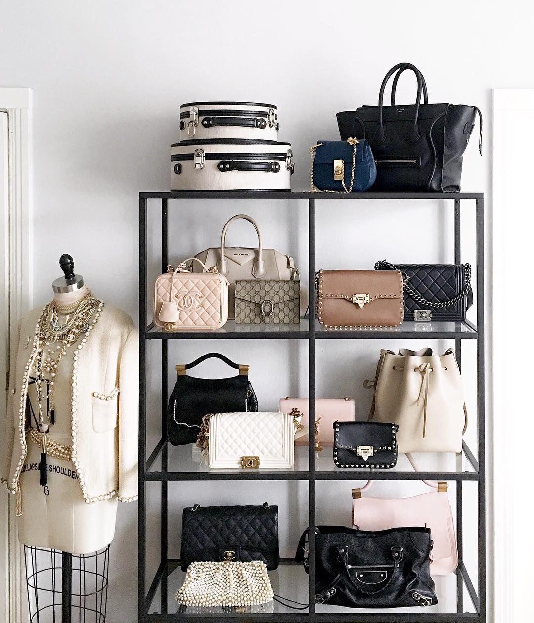 Dream closet handbag shelf via margo and me bedroom pinterest