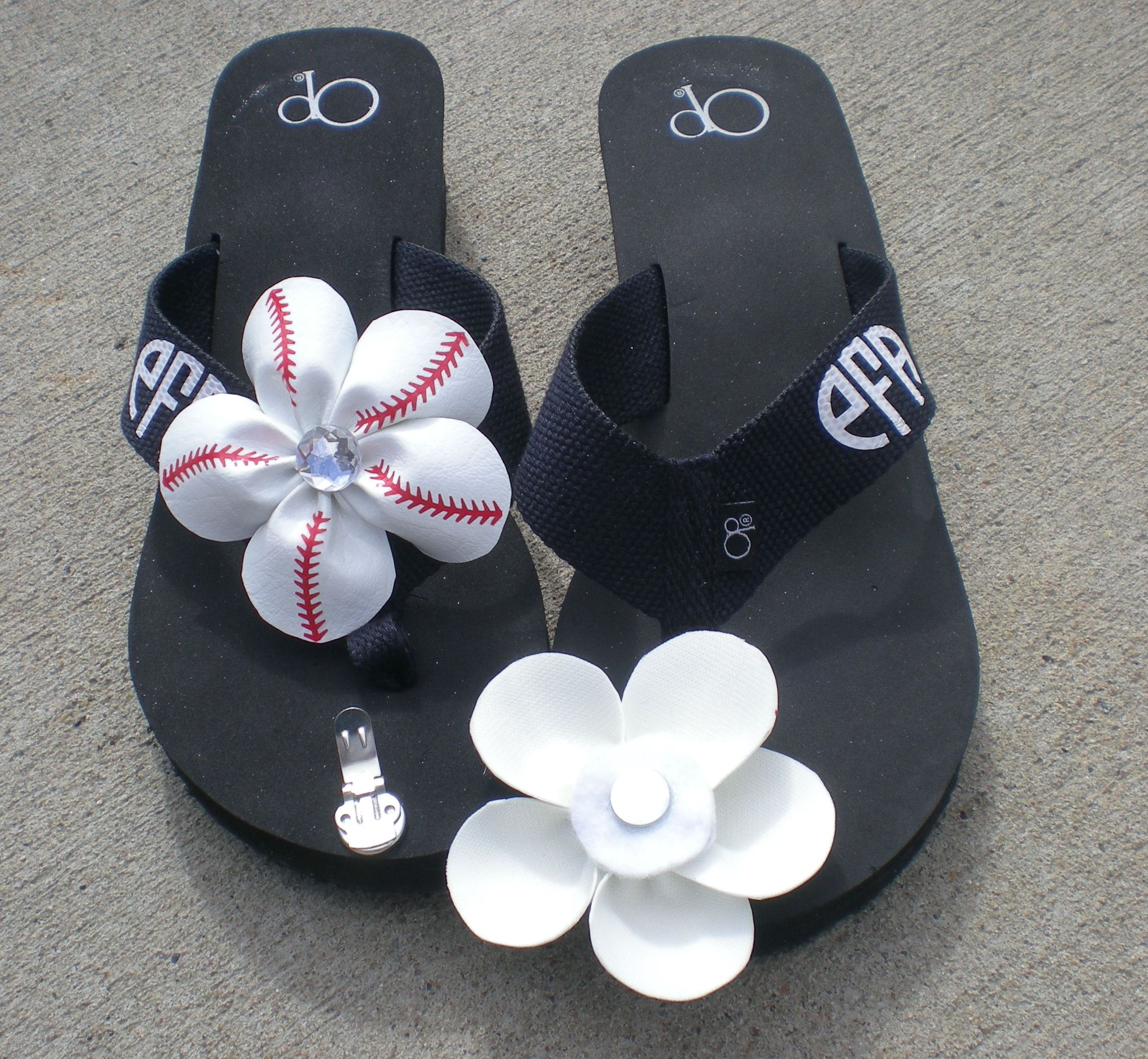 Baseball flip flop with PPP's, clip, cap, and magnets.