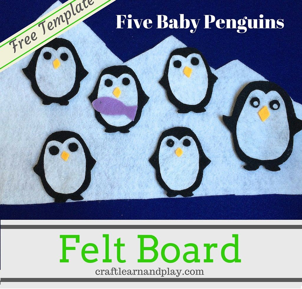 photo about Printable Felt Board Stories called Flannel board experiences - 5 Youngster Penguins flannel reviews