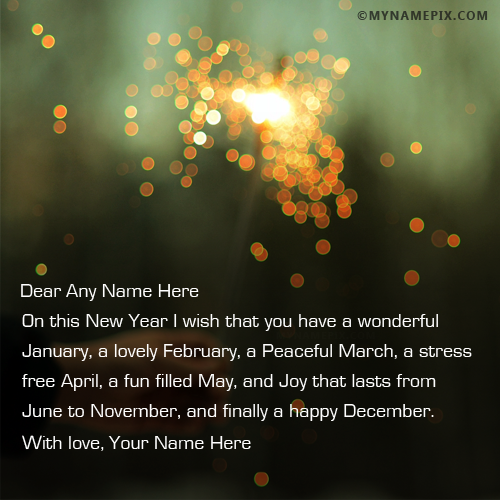 Writing a new year message