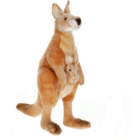 Hansa Mama And Joey Kangaroo 18 Inch Brown Joey Kangaroo