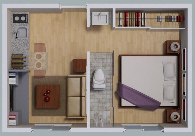 Departamentos de 25 m2 en el df casa pinterest for 25m2 wohnung einrichten