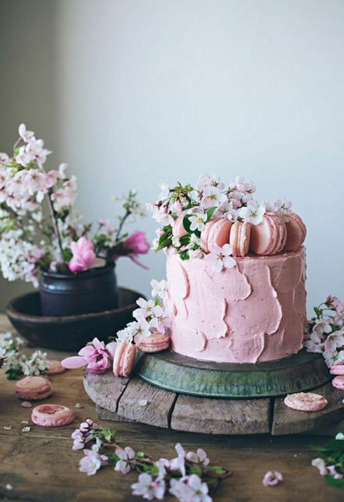 Super Quel gâteau anniversaire fille choisir?   Macarons rose, Beau  TD07