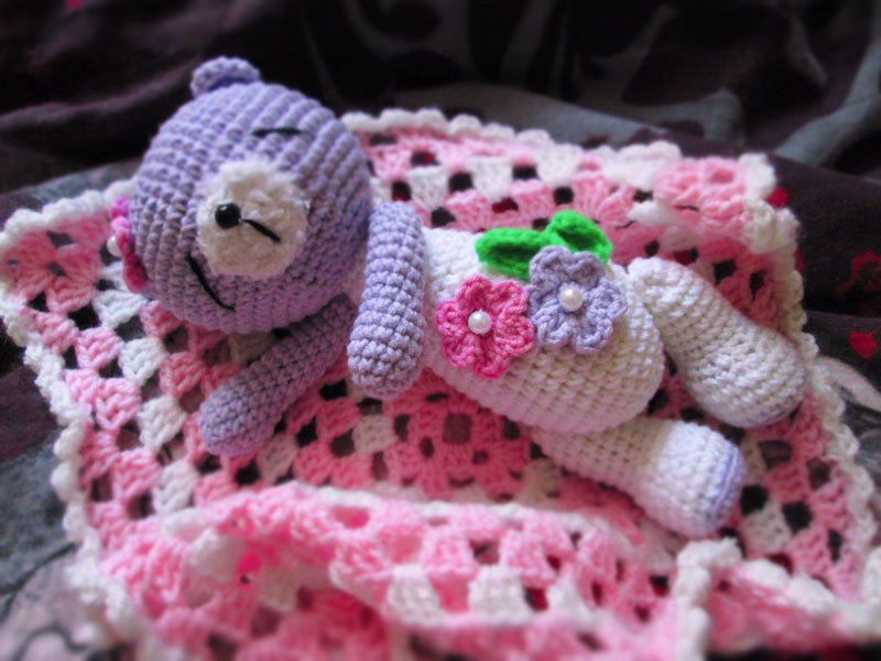 Amigurumi dormir patrón de crochet oso de peluche | Amigurumi ...