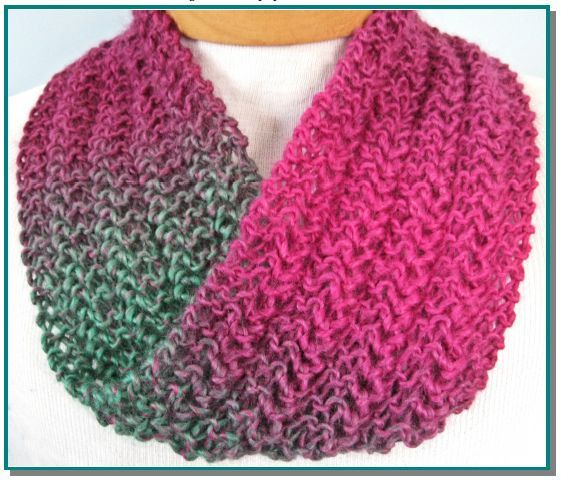 Infinity Scarf knitting pattern Knit Lace Easy for beginner lace ...