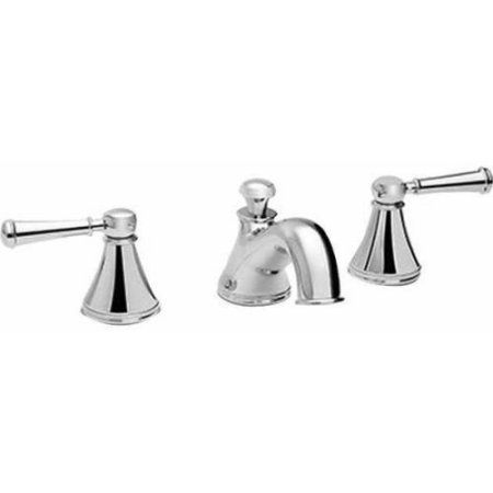 Toto Vivian Widespread Bathroom Faucet with Lever Handles, Available in Various Colors, Silver