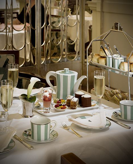 Afternoon tea with champagne at Claridge's.
