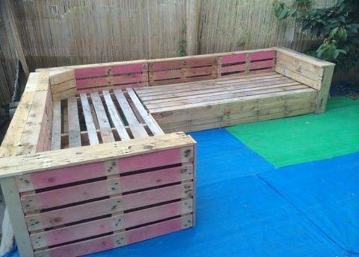 DIY Pallet Patio Or Garden Corner Sofa