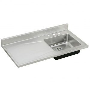 Elkay Stainless Steel Kitchen Sink With Drainboard