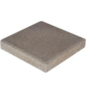 null 12 in x 12 in x 15 in Pewter Square Concrete Step Stone