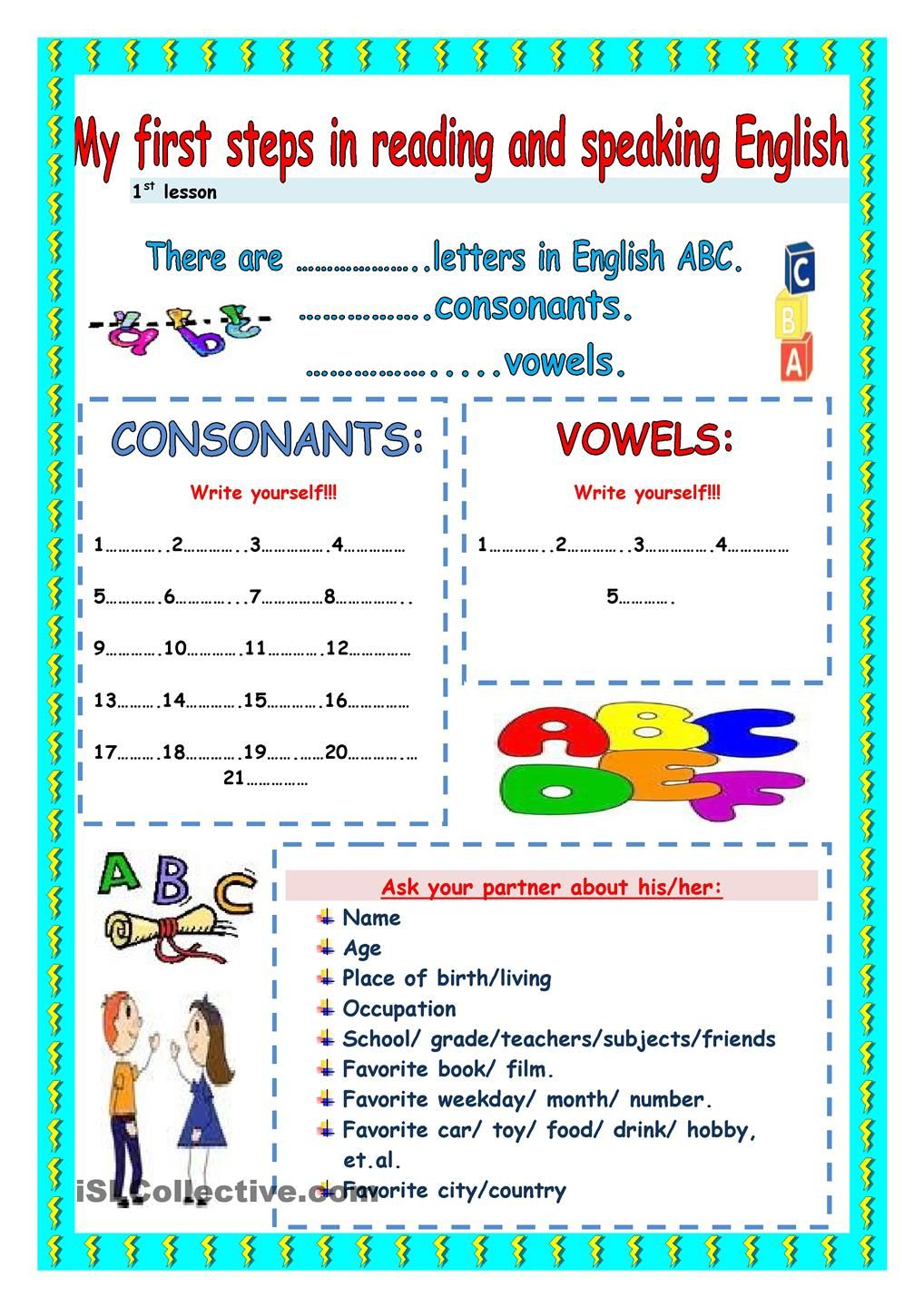 My First Steps In Reading And Speaking Tracing Worksheets Preschool Multi Step Equations Worksheets Esl Lessons How to make my child read english