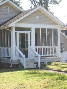 Traditional Home Screened In Front Porch Design Ideas Pictures
