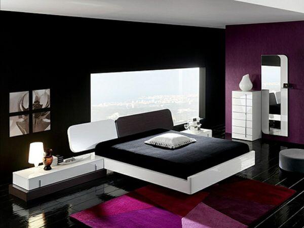 Schlafzimmer schwarz lila Schlafzimmer Ideen Pinterest - moderne schlafzimmer farben