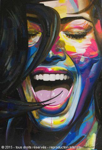Happy - Peinture - Raphael Laventure | Rostros de arte, Cuadros de arte,  Arte en lienzo