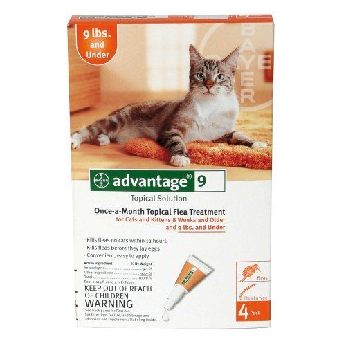 Advantage 9 Topical Solution Bayer Cats Kittens Under 9 Lbs