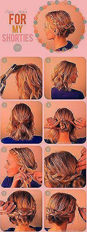 Brötchen-Tutorial für kurze Haare   – Kinderfrisuren – #BrötchenTutorial #fü…