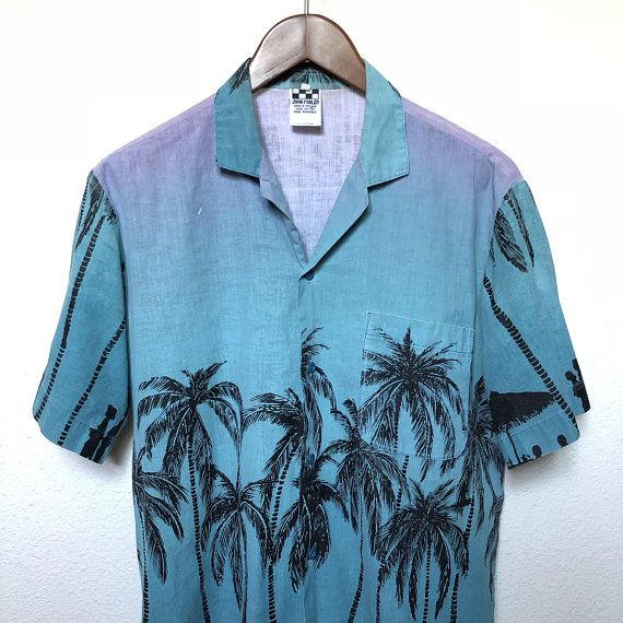 Children Fashion Girl In Tropical Turquoise Beach: Vintage Palm Trees Vaporwave Shirt Turquoise Lavender