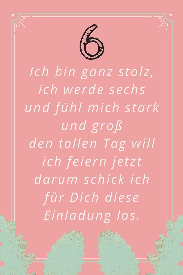 Einladungstexte Zum 6 Geburtstag Um Einladungskarten Selbst Zu Lustiger Text Fur Einladungskarten Kindergeburtstag Di 2020