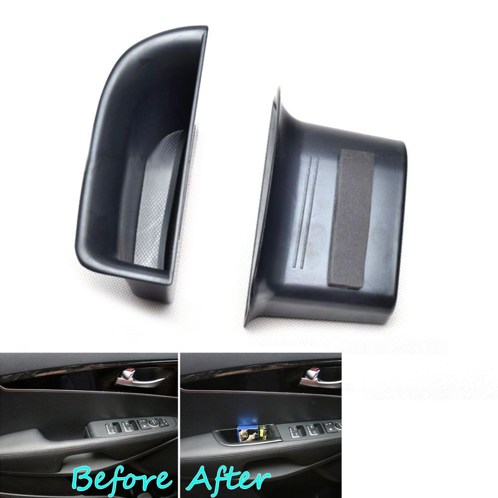 2x Car Front Seat Door Armrest Cover Phone Holder Storage Box Case Container Fit For Kia Sorento Um 2016 Car Styling Accessories Kia Sorento Car Front Sorento