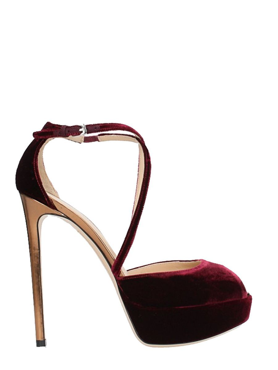 newest collection e2e71 1657a DEI MILLE BURGUNDY VELVET PLATEAU PUMPS. #deimille #shoes ...