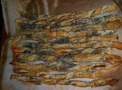 Feuilletés jambon-pavota A tremper dans une sauce crémeuse au fromage gorgonzola, ou ricotta basilic