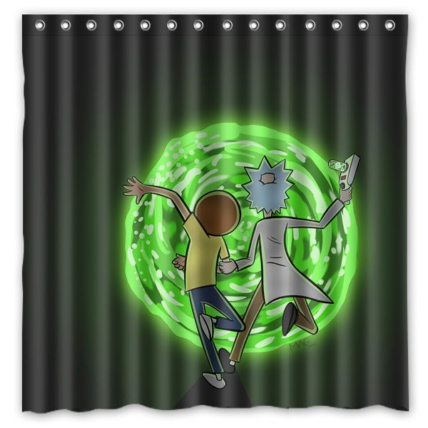 Rick And Morty Shower Curtain Tag A Friend Who Would Love This