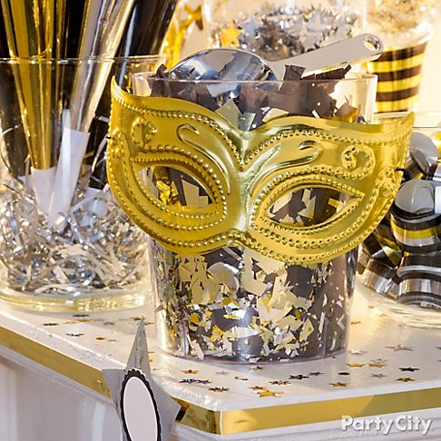 New Years Eve Party Ideas In Black And Gold Party City New Years Eve Decorations New Years Eve Day New Years Eve Party