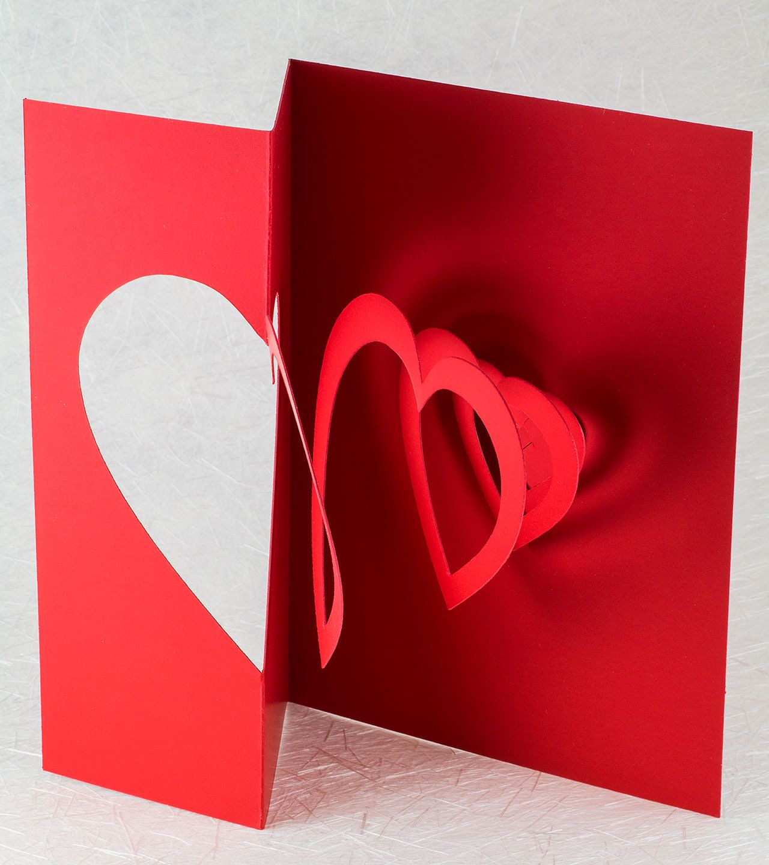 Helical Heart Pop Up Card Heart Pop Up Card Pop Up Invitation Shopping Card