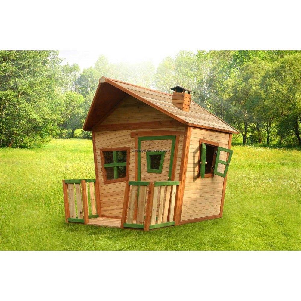 Maisonnette bois enfant jesse maisonnette bois enfant for Maisonnette de jardin enfant