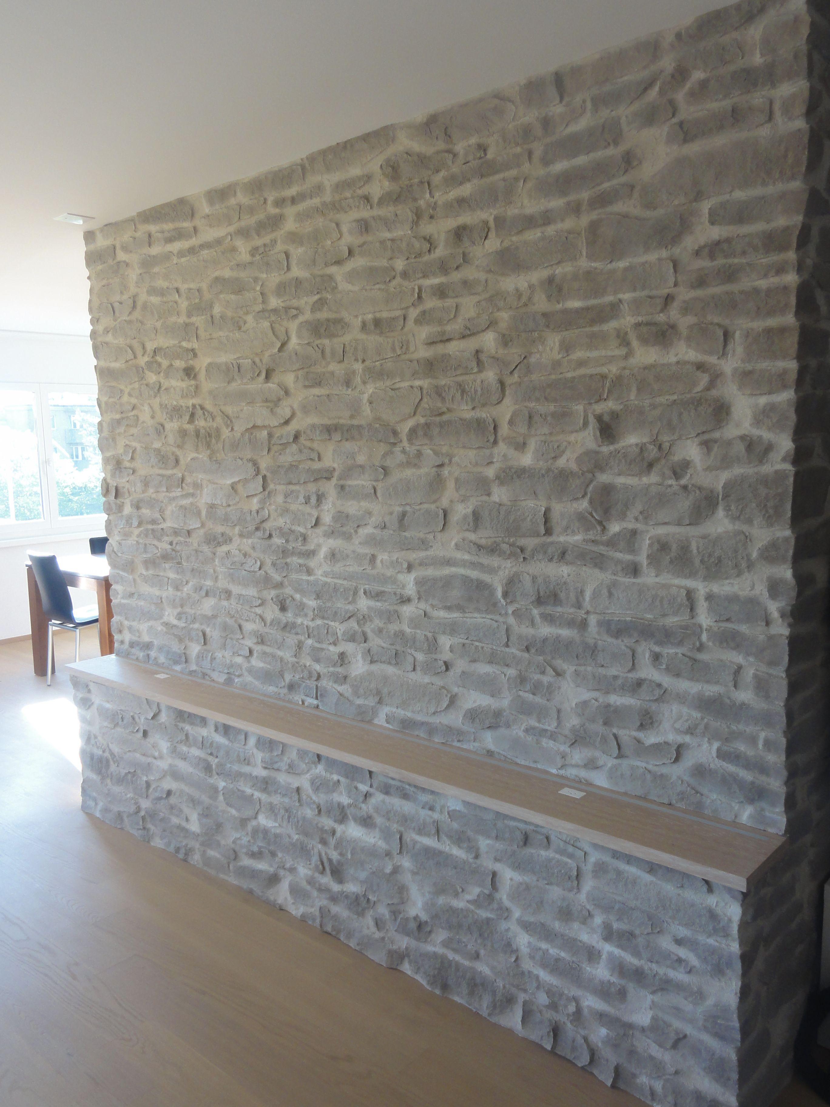 Akzent Paneel als Wandpaneele sowie Steinwand für Ihr Wohnzimmer