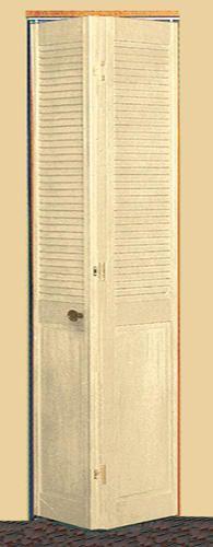 Half Louvered Unfinished Pine 2 Leaf Bi Fold Door 36 X 80 At Menards Tall Cabinet Storage Bifold Doors House Design