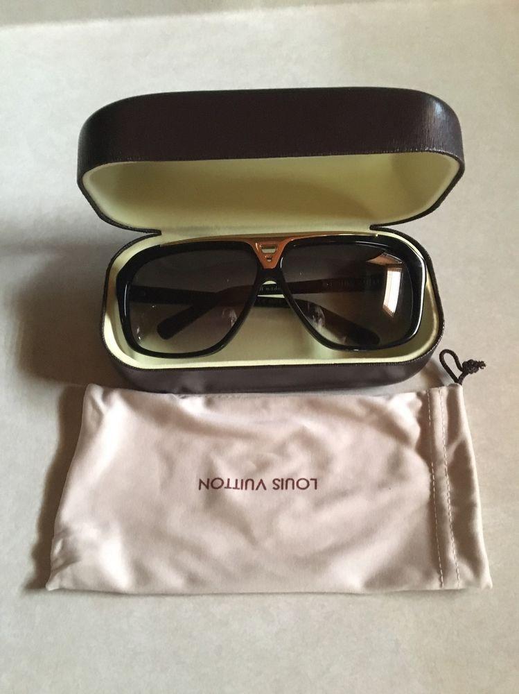Louis Vuitton Evidence Sunglasses Z0350w Black And Gold Ebay Louis Vuitton Evidence Sunglasses Louis Vuitton Evidence Louis Vuitton
