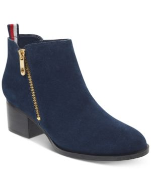 fdcb6e06ab4 Women's Ruthee Block-Heel Ankle Booties | Products | Tommy hilfiger ...
