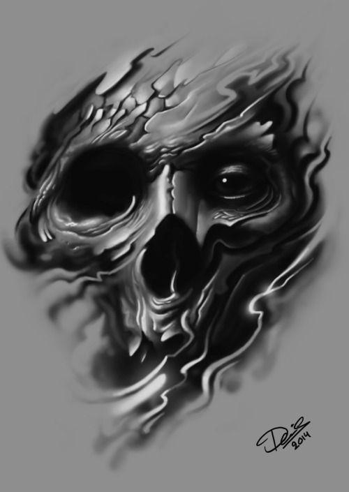 Barefootmarley Skull Artwork Skull Skulls Drawing