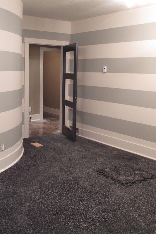Grey Stripe On Walls For Current Bath Would Look Great Veranda