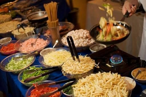 During select nights during the week, Charley's hosts an Italian buffet night.