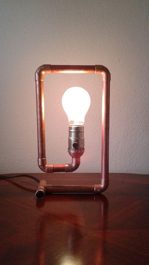Lampe La Spirale De La Tuyauterie En Cuivre Lampe Recyclee