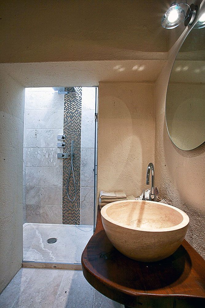 Piatto doccia in pietra di rapolano modello edge bagno - Piatto doccia pietra ...