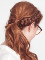 A Red-Hot Braided Hairstyle With Sass To Spare #refinery29