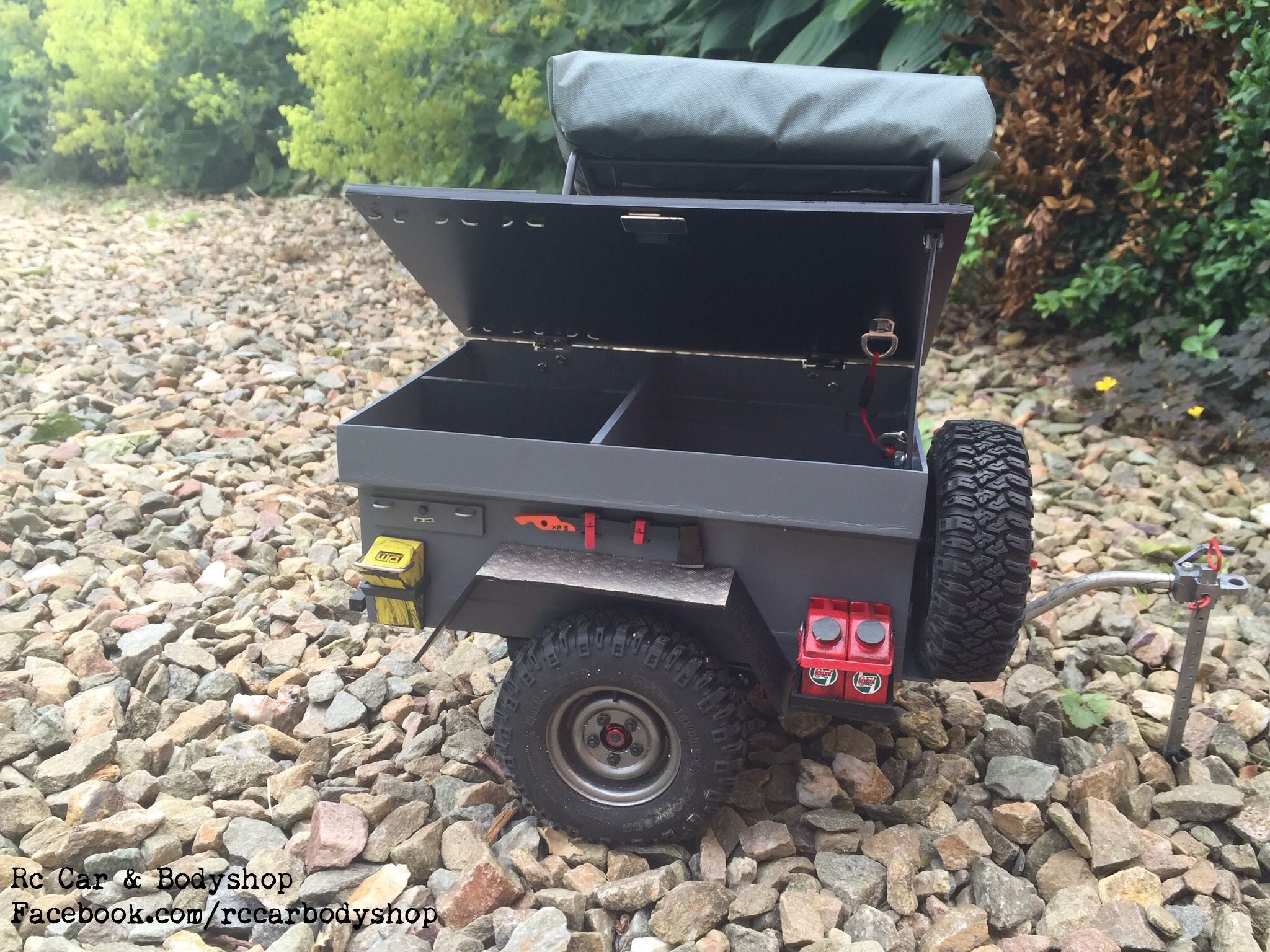 Off Road Trailer 1 10 Custom Build By Us Facebook Com Rccarbodyshop Rc Cars Radio Control Jeep Trailer