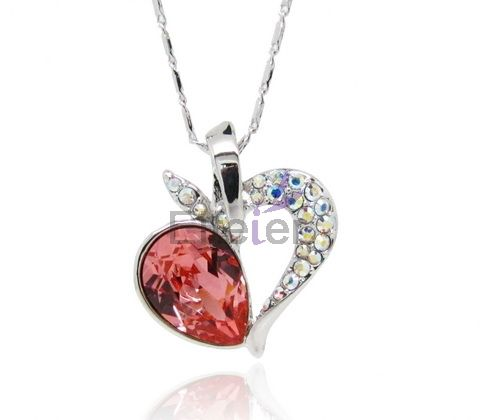 Delicate Snow White series apple shape necklace with mateus Swarovski element crystal & shiny small stones Luxury for party