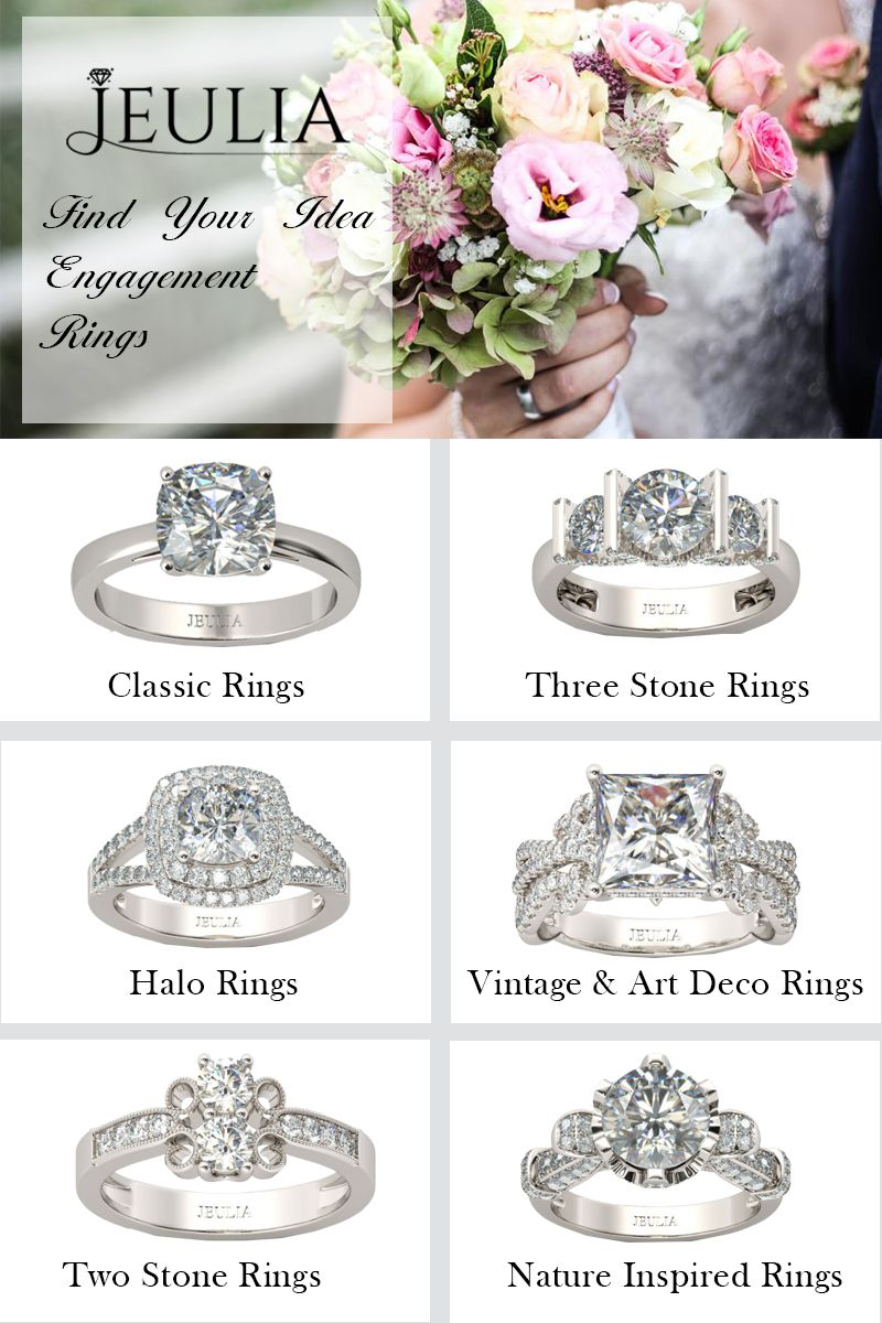 Six Different Kinds Of Engagement Rings Which One Do You Like Most Engagement Rings Womens Engagement Rings Engagement Rings Nature Inspired Rings