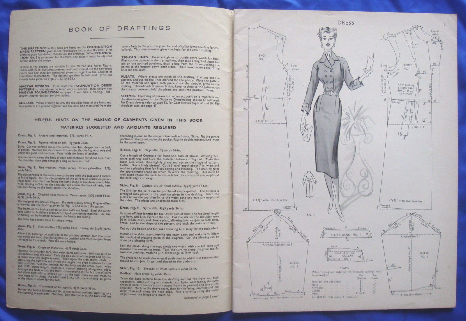 vintage HASLAM SYSTEM of DRESSCUTTING drafting system sewing pattern ...