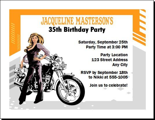 Motorcycle Birthday Invitations Ideas Bagvania With Images