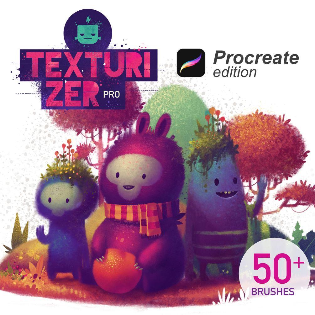 Texturizer Pro Brush Pack - Procreate Edition in 2019 | Tutorial/art
