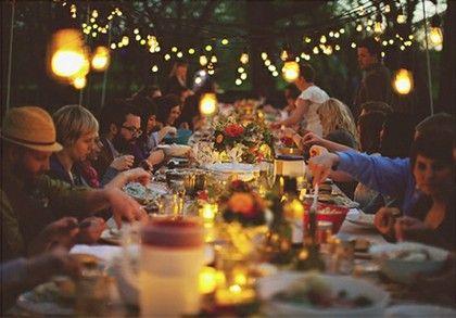 outdoor dinner - European style