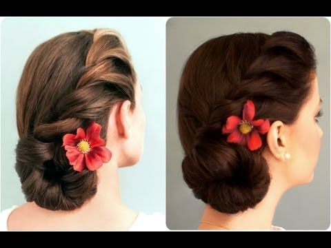 6 Elegant And Easy Updo And Half Updo Hairstyles That Can Never Go Wrong Side Bun Hairstyles Wedding Guest Hairstyles Side Braid With Bun